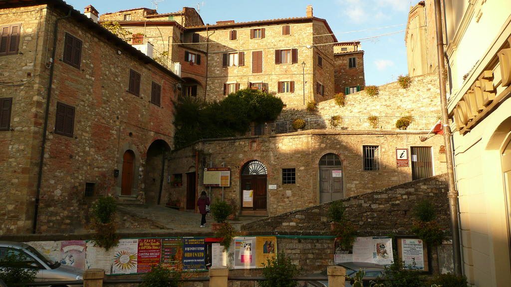 """Ambra - looking up towards the """"castello"""""""