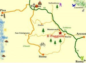 Poggiolo Tuscany map